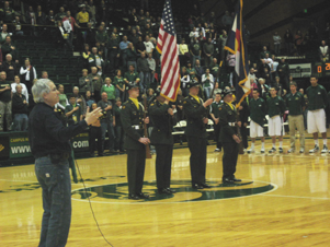 Ed Siegel leading our National Anthem on January 30, 2010
